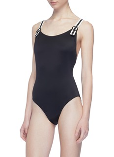 Solid & Striped 'The Lucy' buckled shoulder strap one-piece swimsuit
