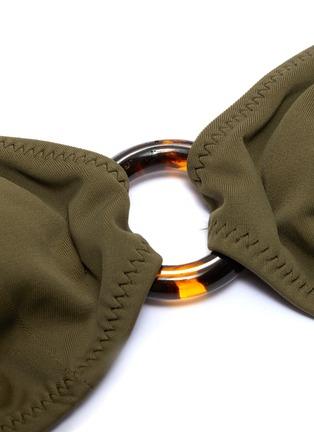 - SOLID & STRIPED - 'The Sadle' ring halterneck triangle bikini top