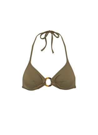 Main View - Click To Enlarge - Solid & Striped - 'The Sadle' ring halterneck triangle bikini top