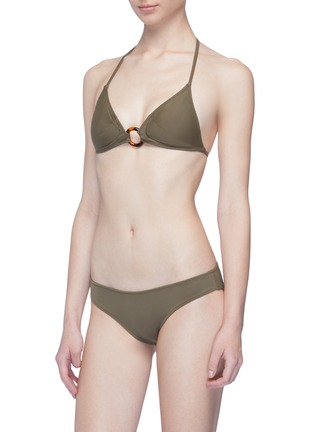 Figure View - Click To Enlarge - Solid & Striped - 'The Sadle' ring halterneck triangle bikini top