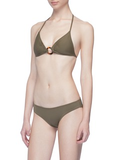 Solid & Striped 'The Sadle' ring halterneck triangle bikini top