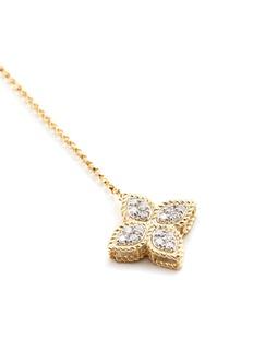 Roberto Coin 'Princess Flower' diamond 18k yellow gold lariat necklace