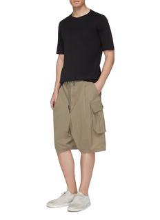 DEVOA Drop crotch wool cargo shorts