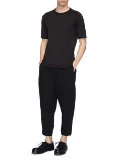 DEVOA Cropped silk-linen jogging pants