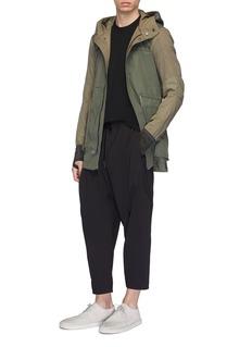 DEVOA Cropped virgin wool blend jogging pants