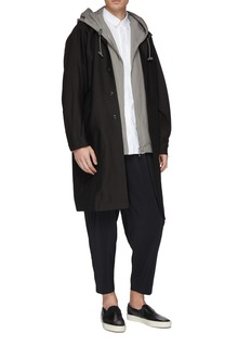 ATTACHMENT Pleated drop crotch jogging pants