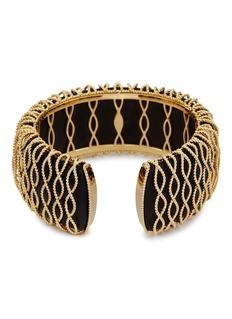 Roberto Coin 'Barocco' diamond 18k yellow gold bangle
