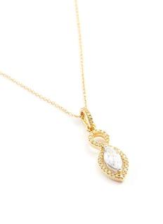 Roberto Coin 'Magic Diamond' 18k yellow gold marquise pendant necklace