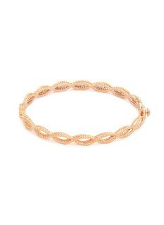 Roberto Coin 'New Barocco' diamond 18k rose gold bangle