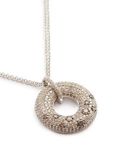 Roberto Coin 'Roi Soleil' diamond 18k white gold pendant necklace