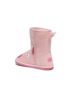 EMU AUSTRALIA 'Piggy' faux pony hair kids boots