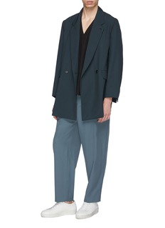 ETHOSENS Detachable sleeve wool soft blazer