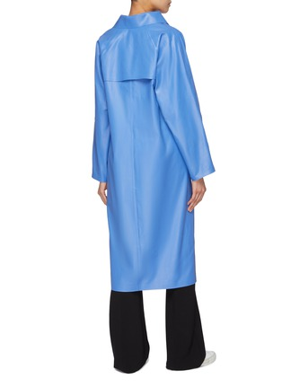 Back View - Click To Enlarge - KASSL - Coated cotton blend trenchcoat