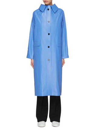Main View - Click To Enlarge - KASSL - Coated cotton blend trenchcoat