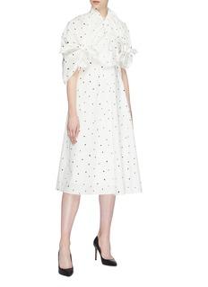 AKIRA NAKA Knot yoke spot print poplin maxi dress