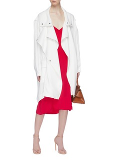 POIRET Button drape crepe coat
