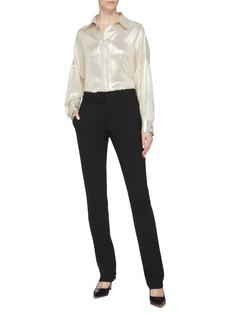 POIRET Silk blend lamé shirt