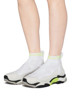 ASH 'Addict Stretch' chunky outsole sock knit high top sneakers