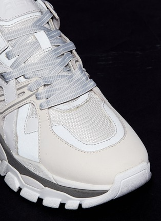 Ash Flash Chunky Outsole Leather Panel Mesh Sneakers
