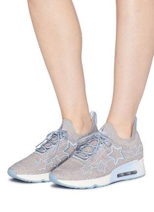 Figure View - Click To Enlarge - ASH - 'Lunatic Star' appliqué knit sneakers