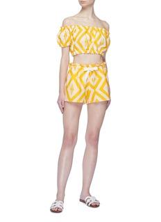 Lemlem 'Biruhi' geometric print drawstring shorts