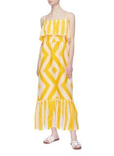 Lemlem 'Biruhi' ruffle overlay geometric print tiered sleeveless dress