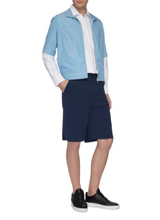 GOETZE 'Carter' cotton-linen seersucker shorts