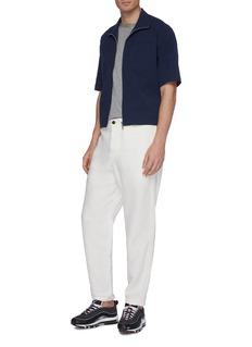 GOETZE 'Ronny' chest pocket seersucker zip short sleeve shirt