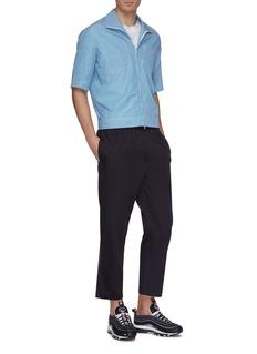 GOETZE 'Ronny' chest pocket stripe zip short sleeve shirt