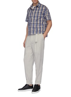 GOETZE 'Charles' belted pleated pants