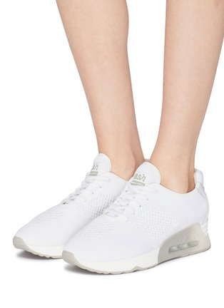 5f7a6ace4977  Lucky  eyelet knit sneakers