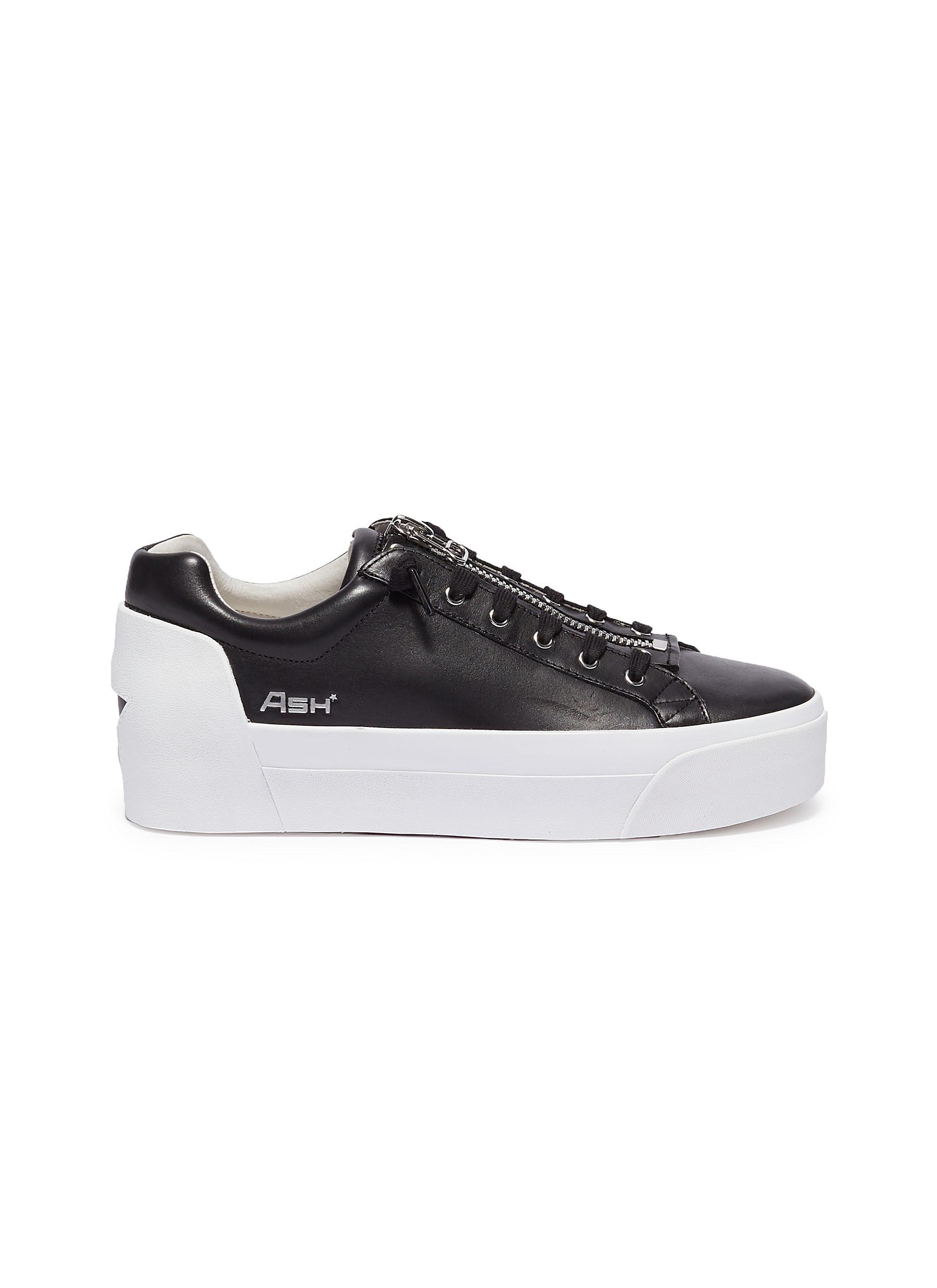ef8ea8b86e8fe Main View - Click To Enlarge - ASH -  Buzz  zip leather platform sneakers