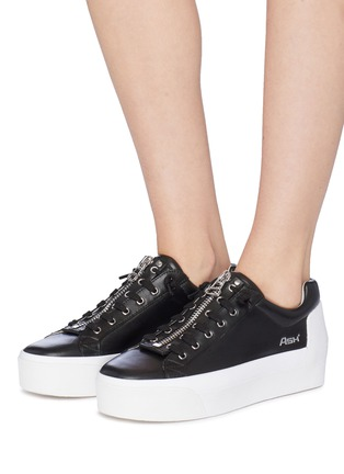 f625b9eb5c567 Figure View - Click To Enlarge - ASH -  Buzz  zip leather platform sneakers