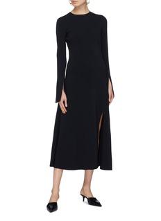 KHAITE 'Melinda' split cuff crepe dress