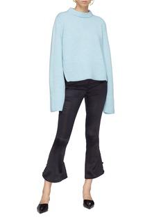 KHAITE 'Virginia' split back bell sleeve cashmere sweater