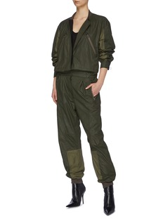 Haider Ackermann Panelled zip front coated twill jumpsuit