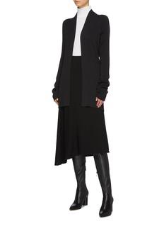 Haider Ackermann Contrast velvet stripe back long open cardigan