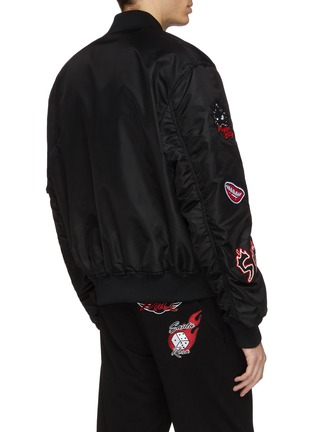 Back View - Click To Enlarge - McQ Alexander McQueen - Monster badge bomber jacket