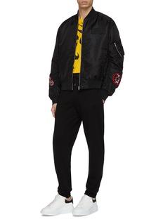 McQ Alexander McQueen Monster badge bomber jacket