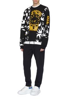 McQ Alexander McQueen Mix graphic print panelled sweatshirt
