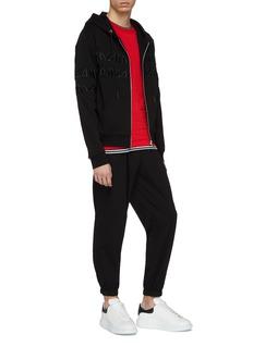 McQ Alexander McQueen Logo embroidered zip hoodie