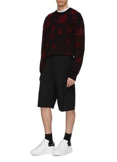 McQ Alexander McQueen Swallow jacquard sweater