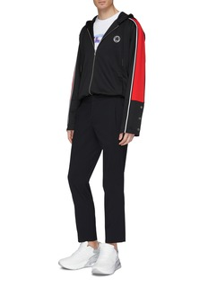McQ Alexander McQueen Logo patch colourblock sleeve hooded track jacket