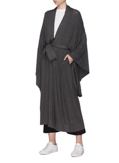 Norma Kamali Belted drape sleeve robe coat