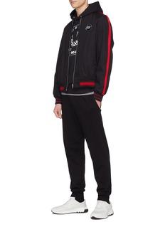 McQ Alexander McQueen Checkerboard swallow print hoodie