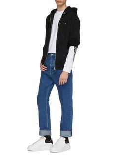 McQ Alexander McQueen Swallow skull appliqué zip hoodie