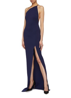 Solace London 'Petch' split hem twist one-shoulder maxi dress