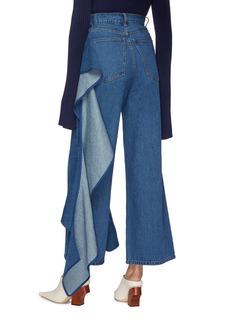 d81fa40be47d2e SOLACE LONDON | 'Tay' ruffle drape panel jeans | Women | Lane Crawford