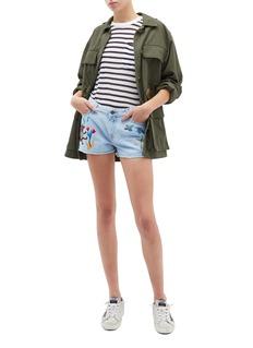 Mira Mikati Fairytale embroidered denim shorts