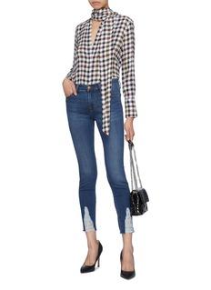 J Brand '811' ripped cuff skinny jeans